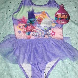 NWT Trolls Swimsuit 2T Bathing Suit Swimwear NEW